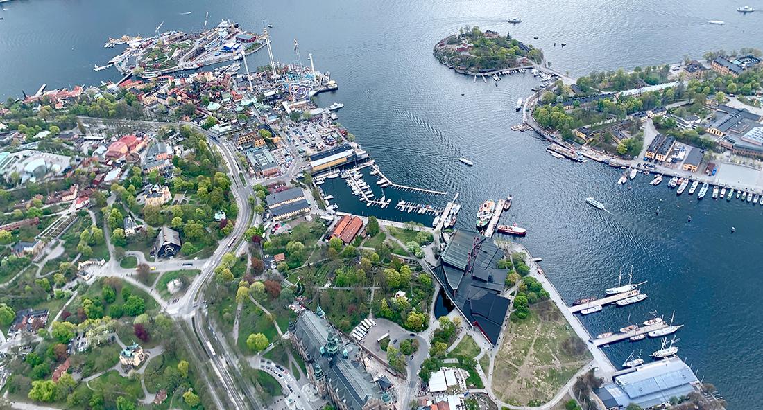 Designa din helikoptertur i Stockholm